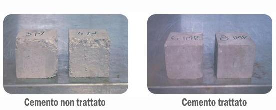 Trattamento del cemento esempio